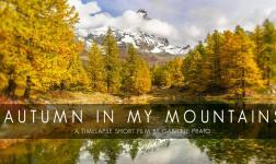 Autumn in my Mountains: 2 anni di passione per le Alpi, in time-lapse 4K