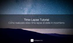 Come realizzare video time-lapse di stelle in movimento