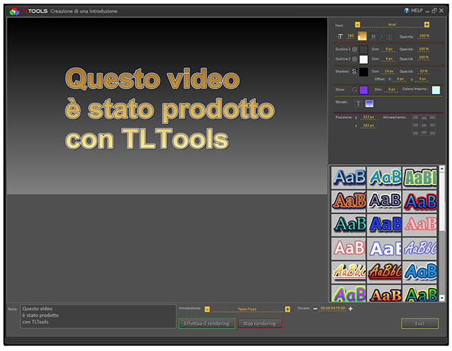 Creare il video direttamente in TLTools