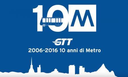 GTT 10 anni metro torino timelapse