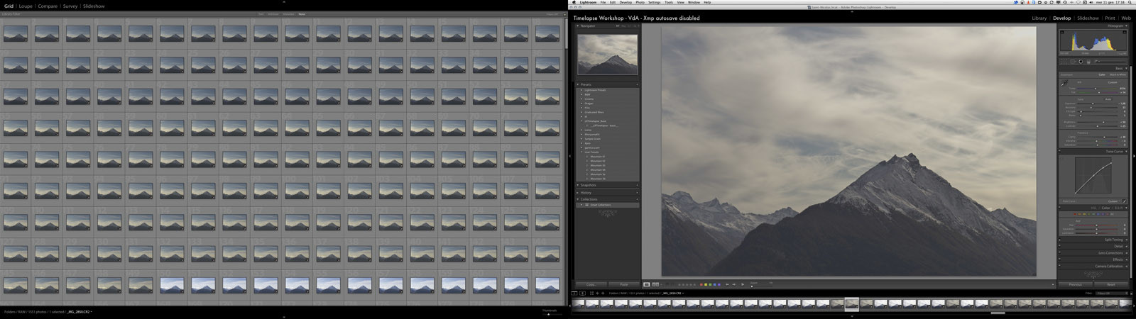 Workshop timelapse 2011 - Backstage - Lightroom