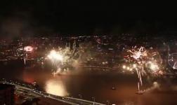 Fuochi d'artificio a Brisbane, Australia