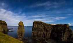 Paesaggi notturni dalla contea scozzese di Caithness