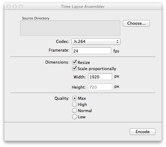 Time Lapse Assembler: screenshot