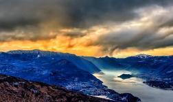La luce dell'inverno sulla Valtellina, catturata in HDR