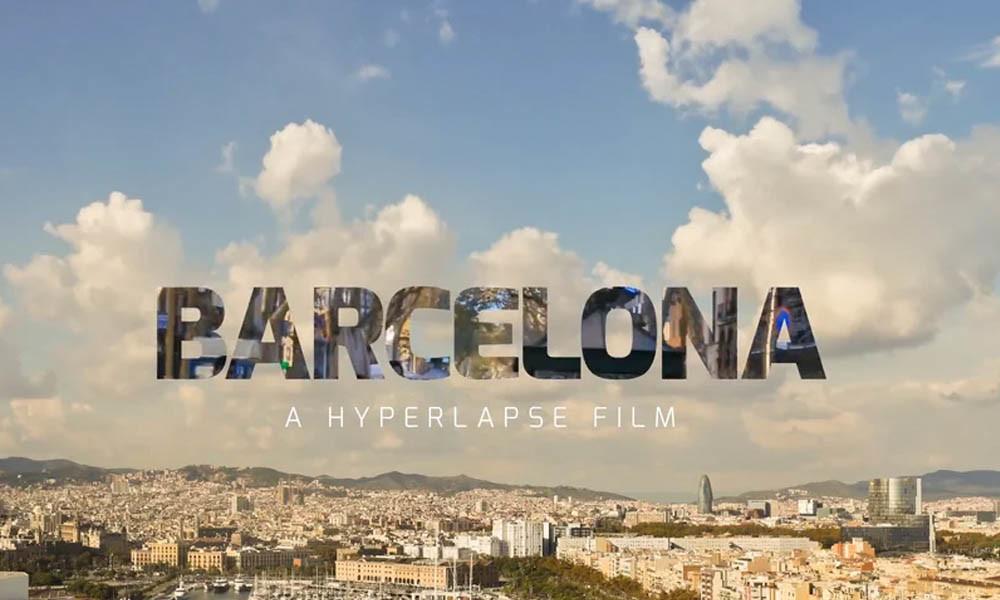 barcelona hyperlapse film